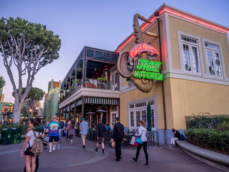 Download Downtown Disney Shopping And Entertainment District Editorial  Stock Image   Image Of Mouse, Night