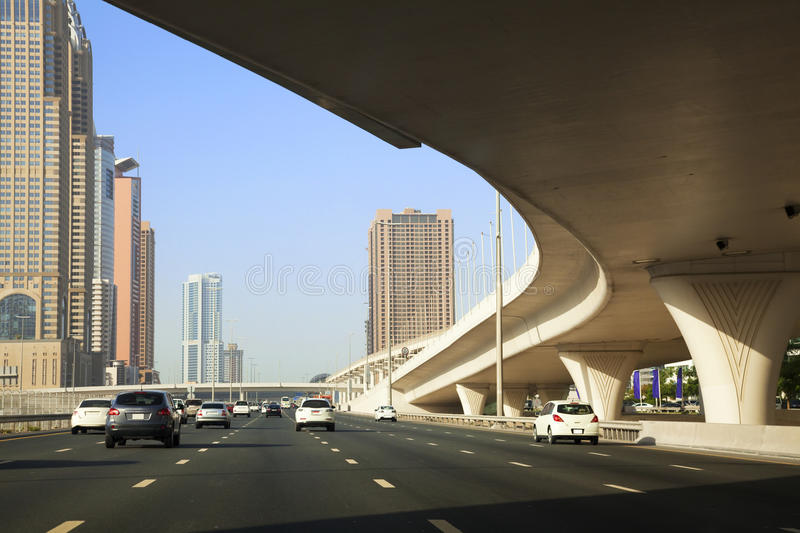 Download Downtown Dubai, UAE stock image. Image of cars, highway - 14581145