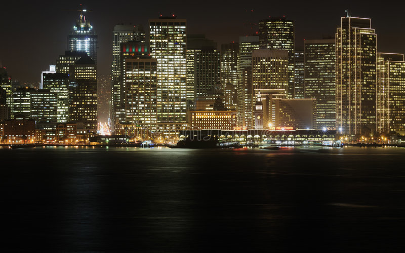Downtown At Dusk, San Francisco Royalty Free Stock Image