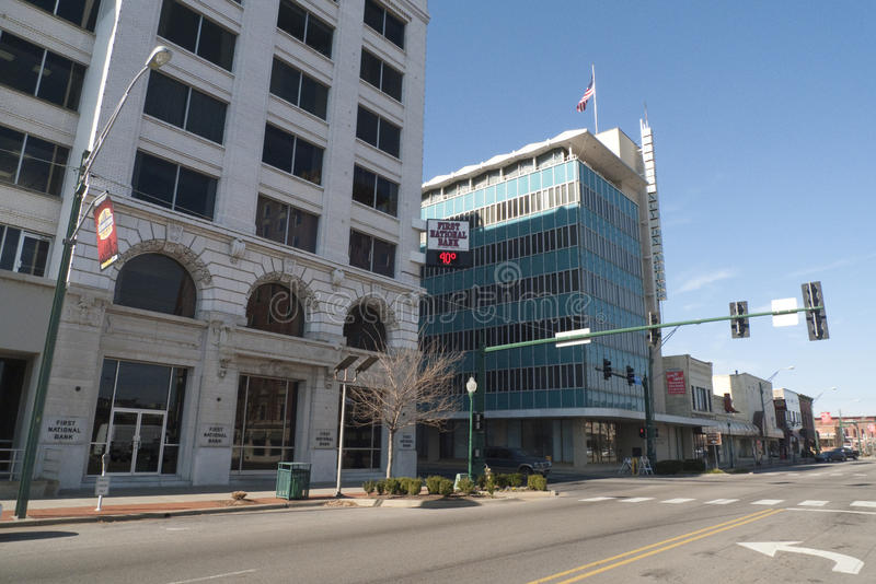 Downtown, Fort Smith, AR royalty free stock photos