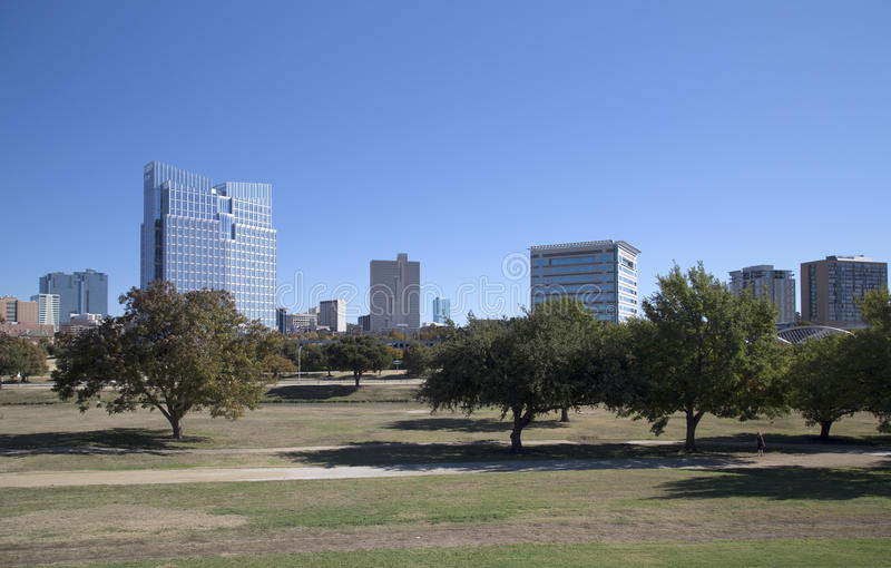 Downtown of Fort Worth royalty free stock photo