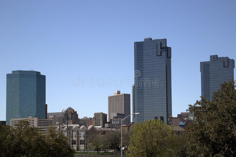 Downtown Fort Worth. TX USA royalty free stock images