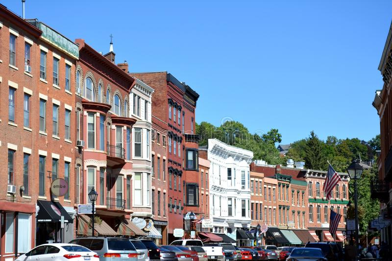 Downtown Galena Illinois royalty free stock photography