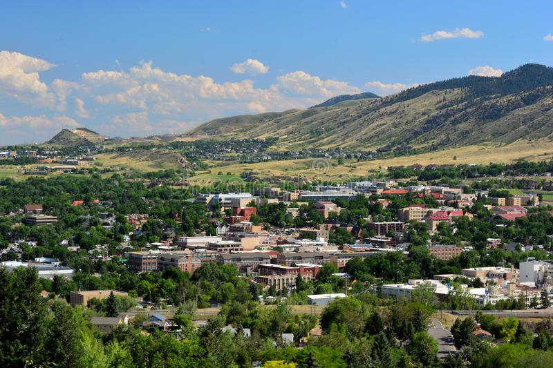 Downtown Golden, Colorado in the Rocky Mountains on a sunny day.  royalty free stock images