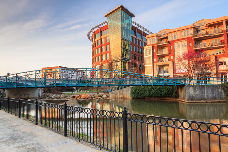 Downtown Greenville South Carolina SC royalty free stock photography