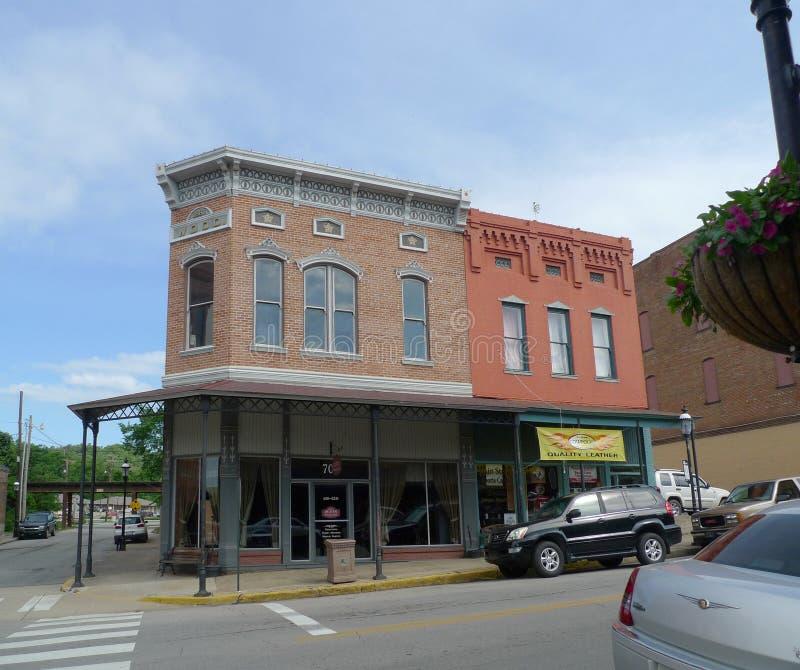 Downtown historic buildings, Van Buren, Arkansas stock photo