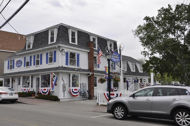 Kennebunkport, Maine, 30th June: Downtown Historic House from Kennebunkport in Maine state of USA. Downtown Historic House from Kennebunkport Resort in Maine stock photos