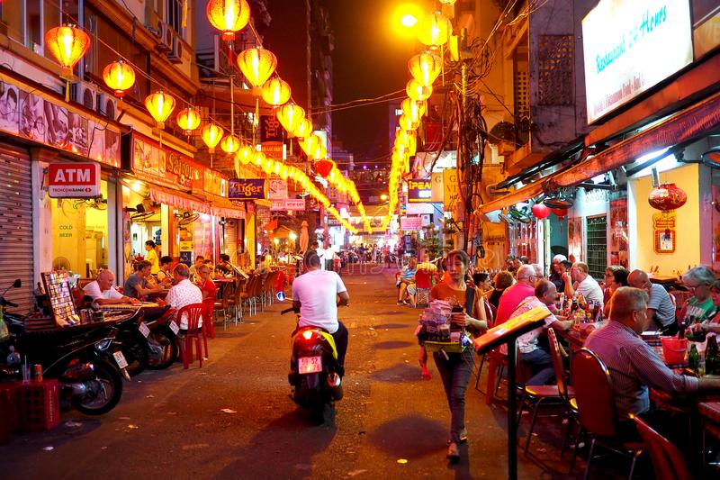13 March 2019 - Ho Chi Minh, Vietnam : Downtown Ho Chi Minh, Vietnam royalty free stock images