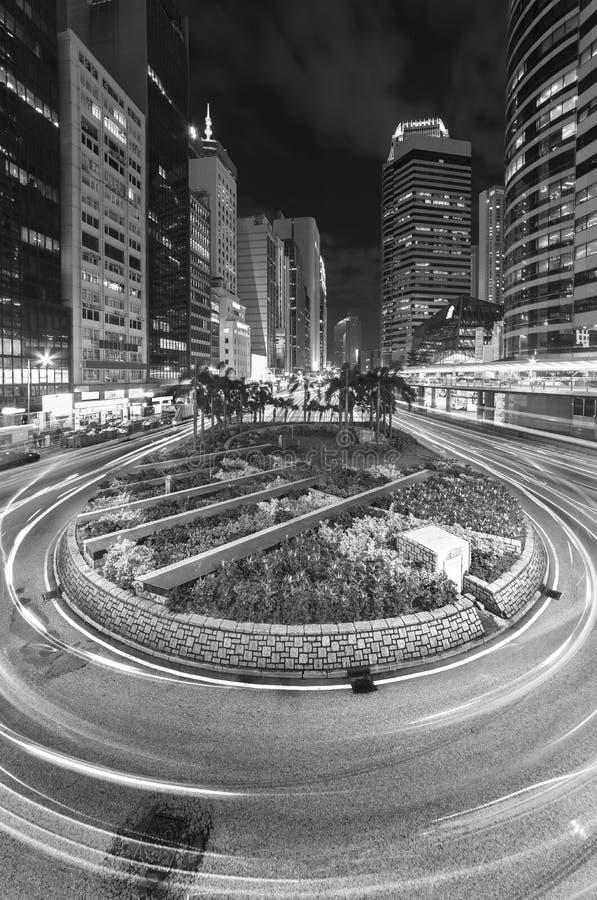 Downtown of Hong Kong city stock photos
