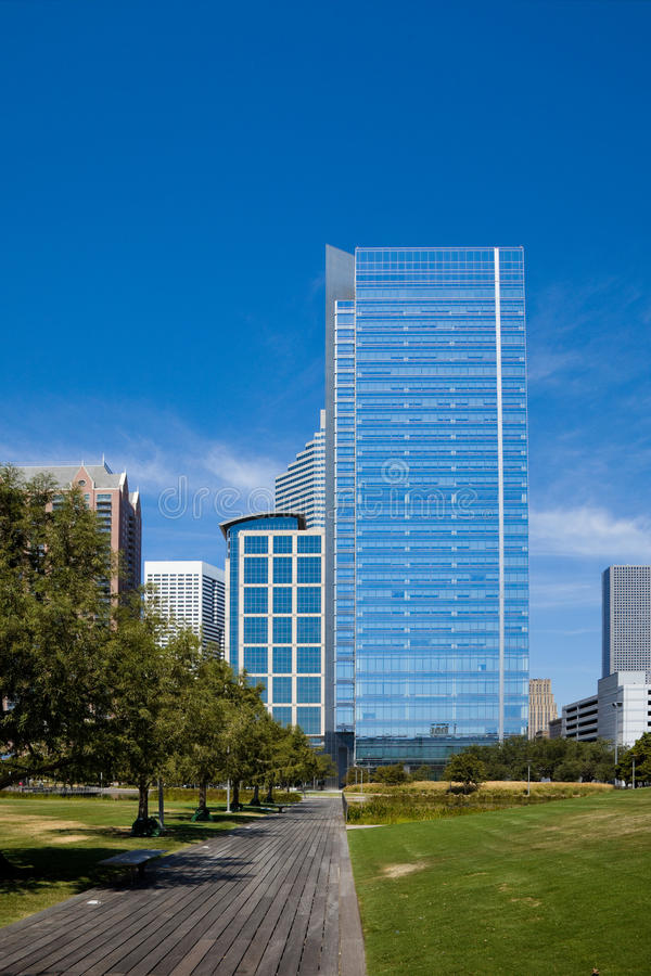 Download Downtown Houston stock photo. Image of skyscrapers, texas - 21605556