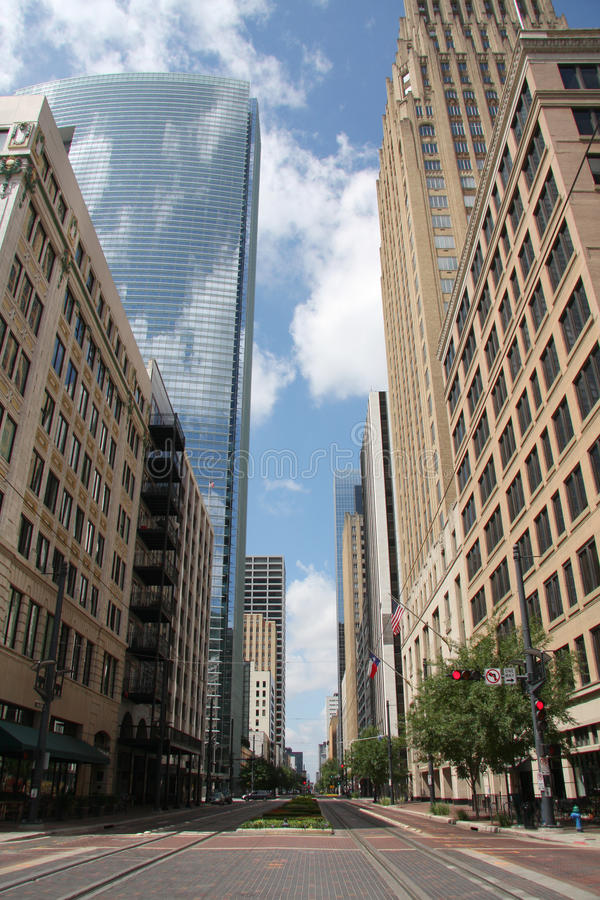 Downtown of Houston stock photography