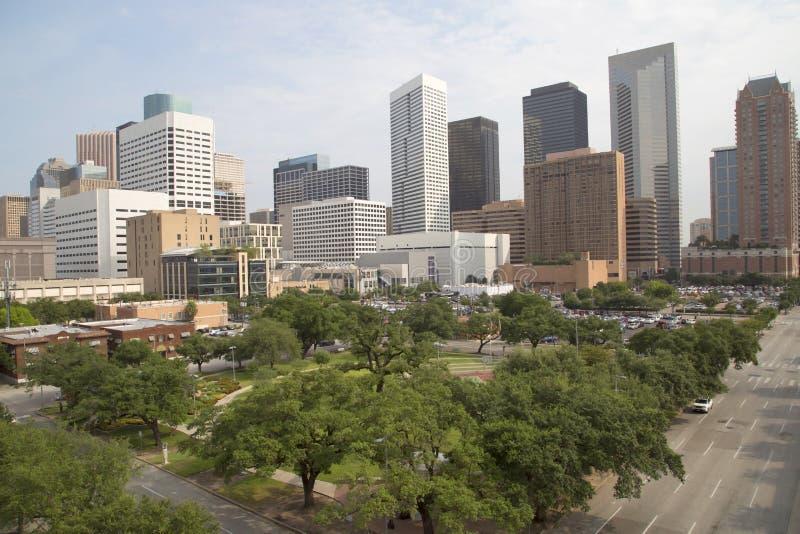 Downtown of Houston stock photo