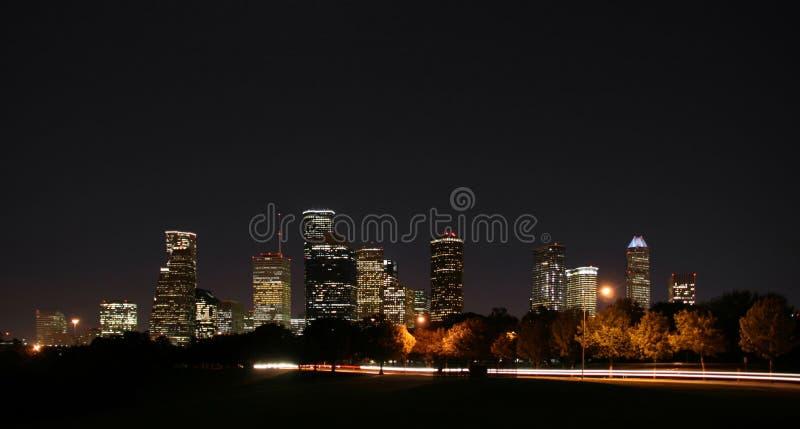 Download Downtown Houston Night Pano Stock Photo - Image: 4716846