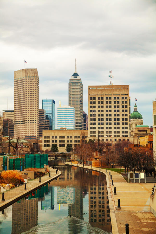 Downtown of Indianapolis stock image