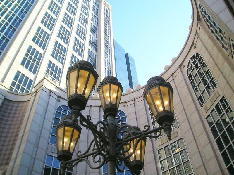 downtown iron lamps στοκ φωτογραφία
