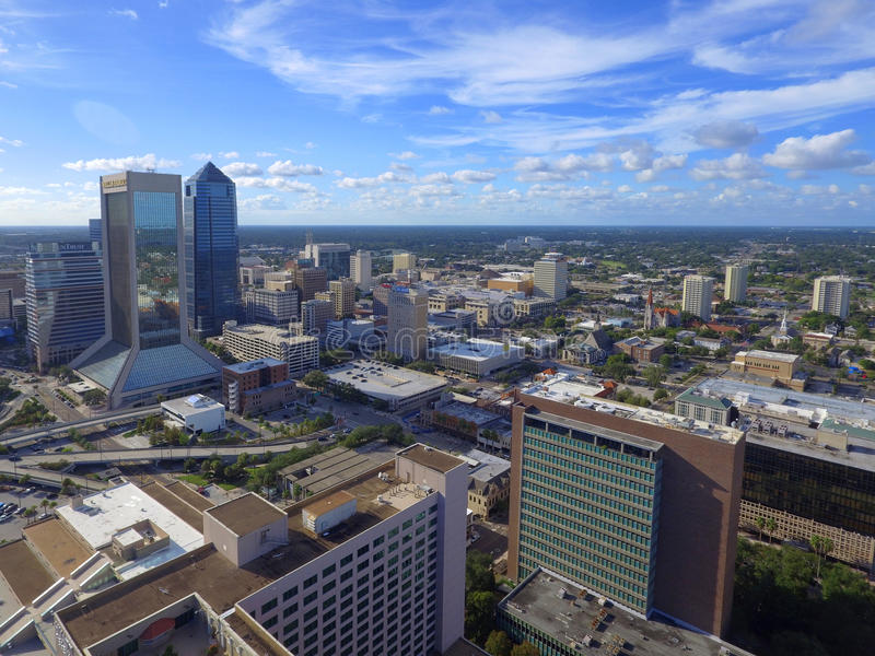Downtown Jacksonville Florida. Aerial image of Downtown Jacksonville Florida stock images