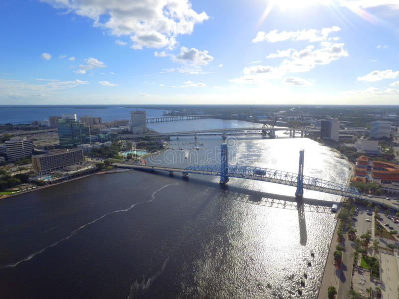 Downtown Jacksonville Florida. Aerial image of Downtown Jacksonville FL, USA royalty free stock images