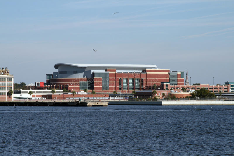 Downtown Jacksonville, Florida along the St Johns River stock photography