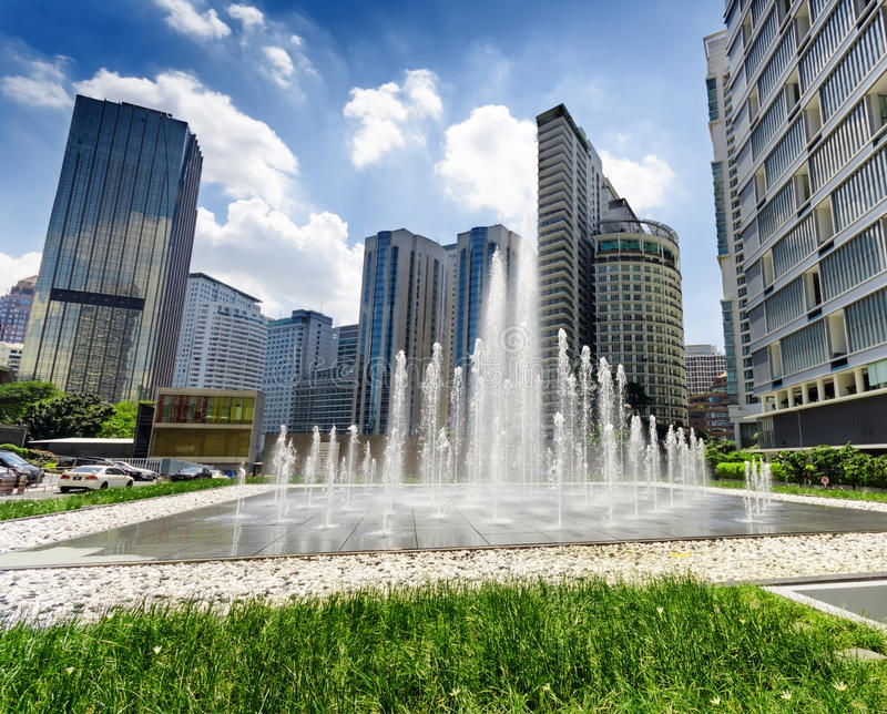 Downtown of Kuala Lumpur in KLCC district stock image