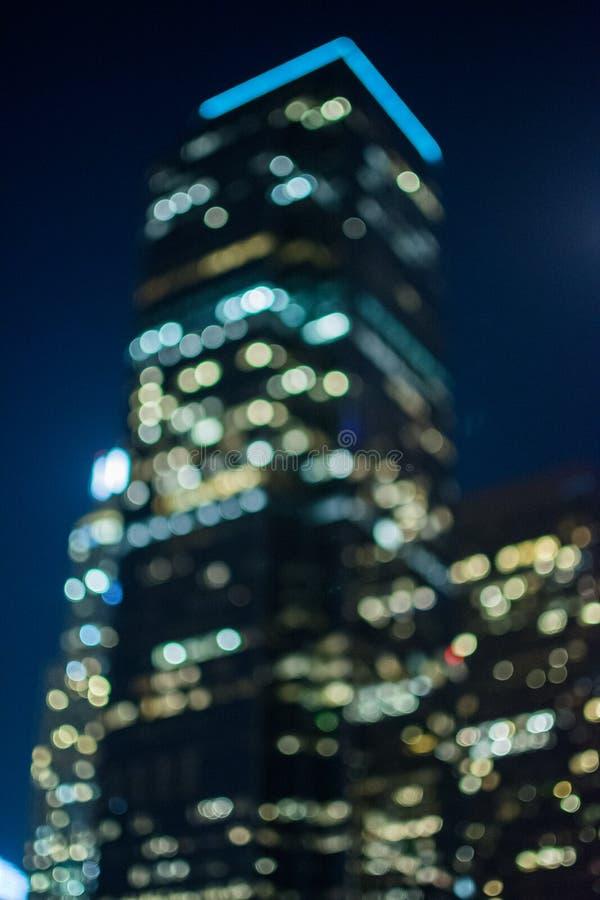 Downtown LA building in a bokeh stting stock photo