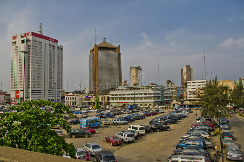 Downtown Lagos royalty free stock image