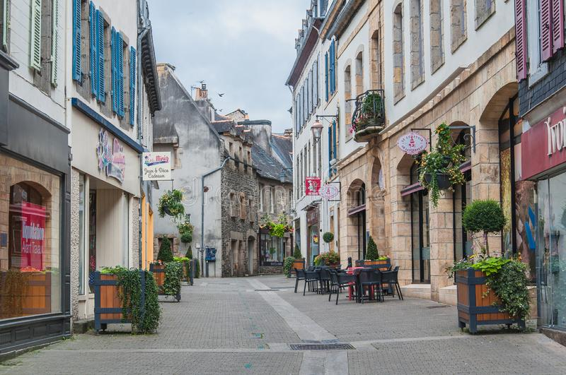 Downtown Landerneau in Finistère stock images