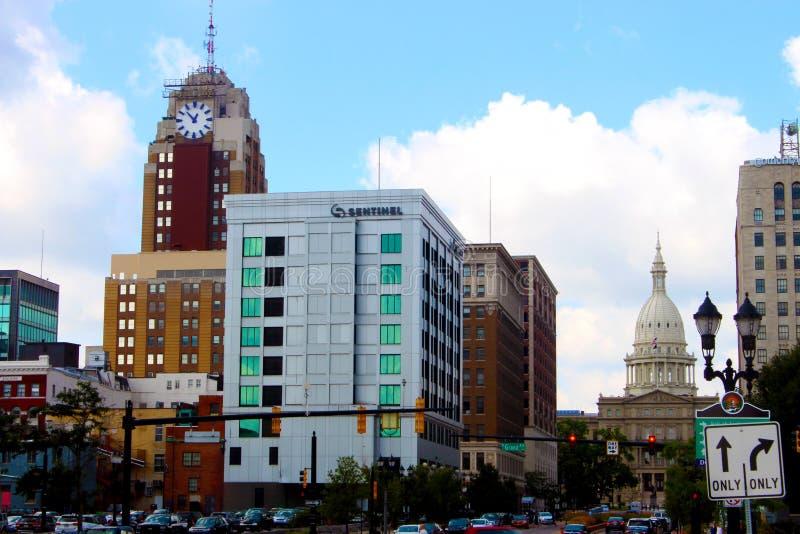 Downtown Lansing royalty free stock photo
