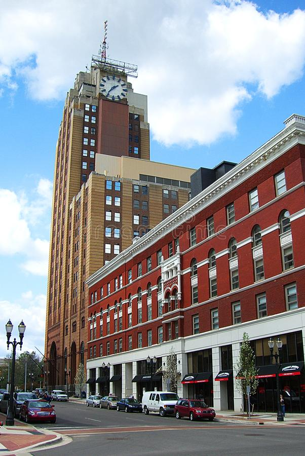 Downtown Lansing, Michigan Architecture. Architecture and street scene in downtown Lansing, Michigan, the state capital stock photo