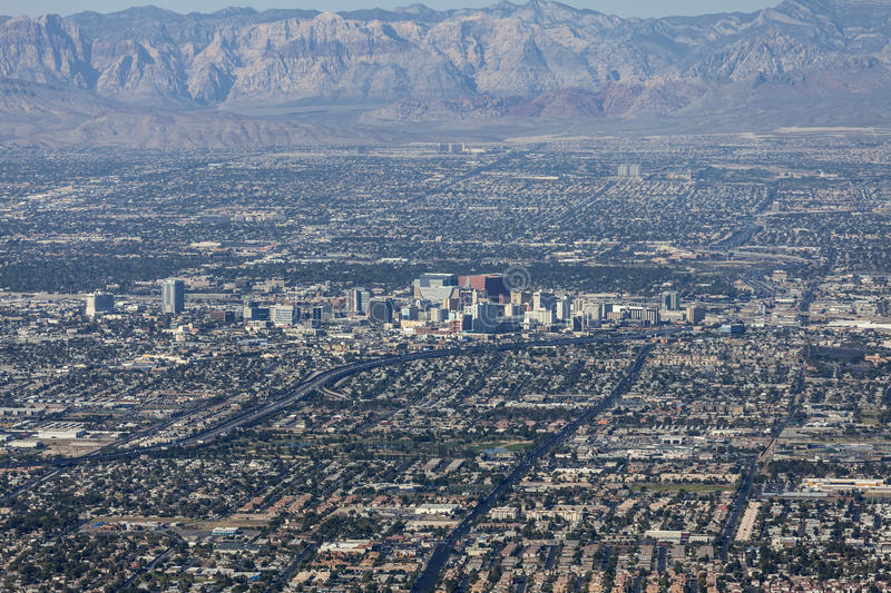 Download Downtown Las Vegas Editorial Aerial Editorial Photography - Image: 34529072
