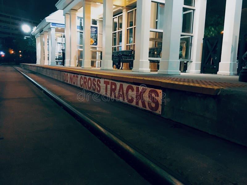 City tracks stock image