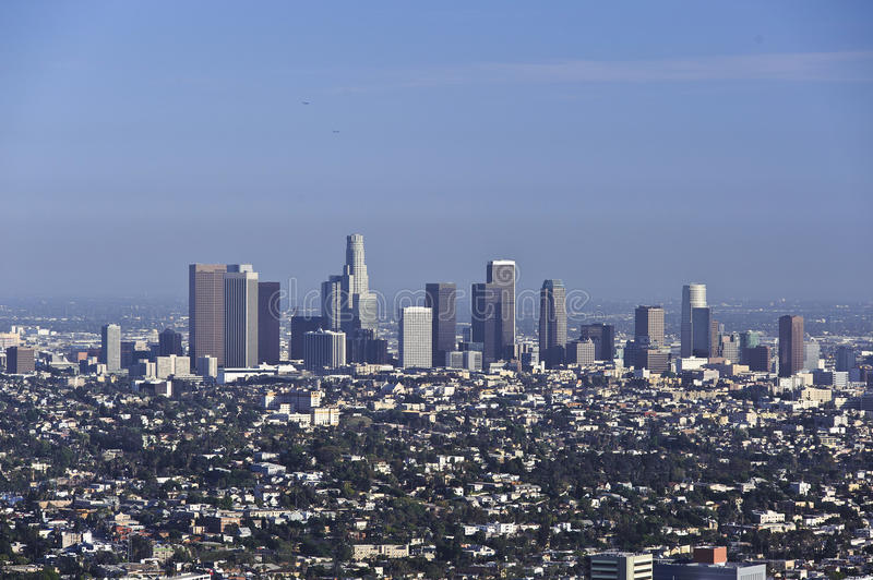 Download Downtown Los Angeles editorial image. Image of mountains - 24568415
