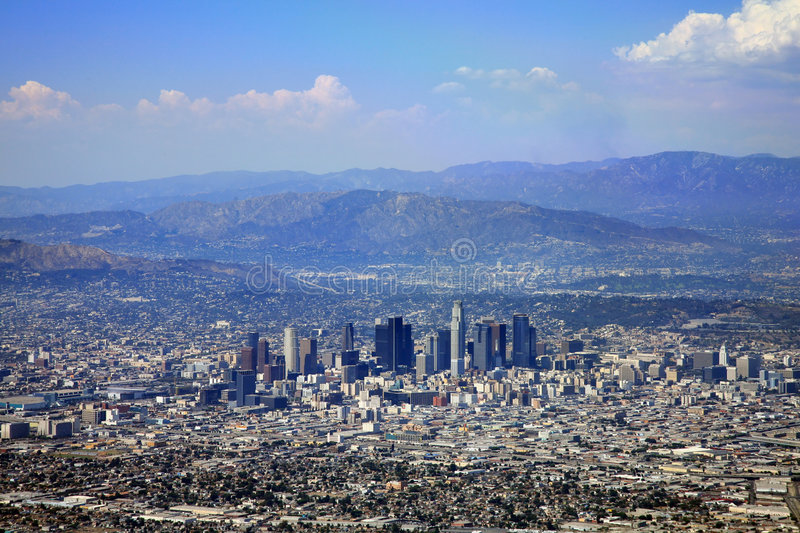 Downtown Los Angeles. City buildings stock images