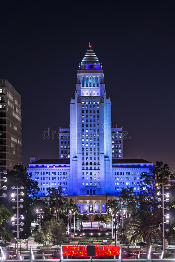 Downtown Los Angeles City Hall royalty free stock image