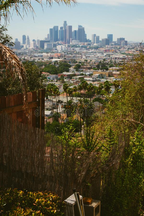 Aerial view of Downtown Los Angeles royalty free stock photo