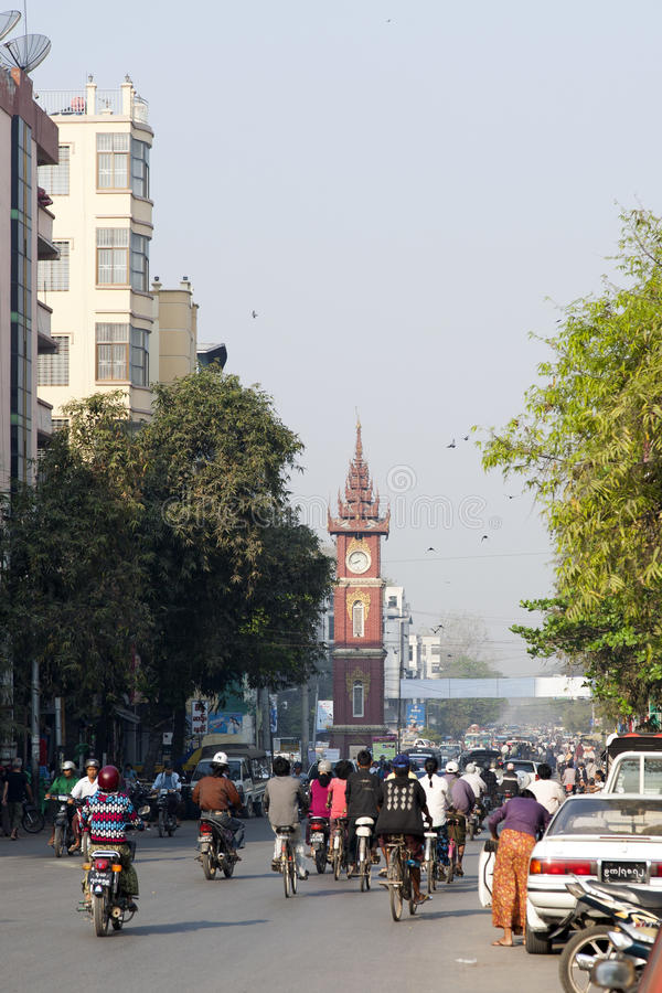 Download Downtown Mandalay editorial stock image. Image of street - 30512729