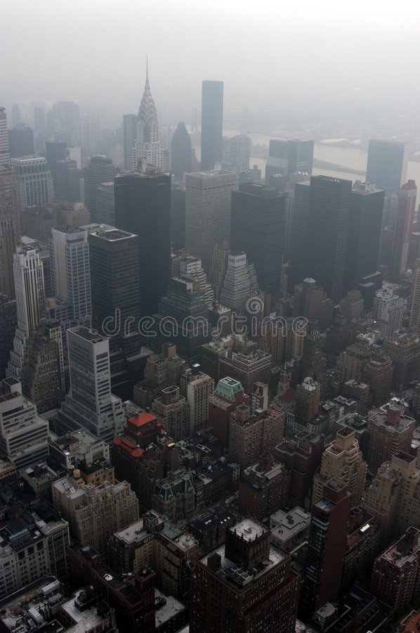 Downtown Manhattan. Seen from above royalty free stock photography