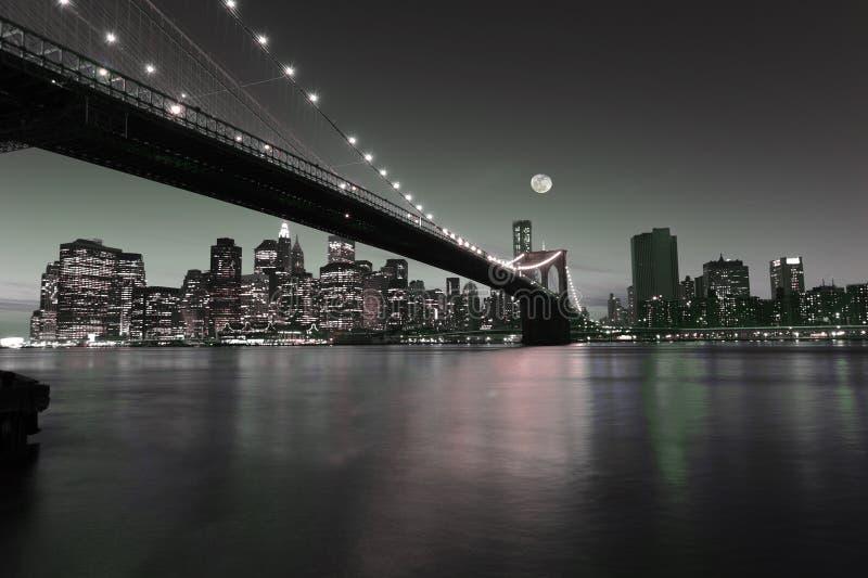 Downtown Manhattan. An artistic interpretation of the iconic skyline of downtown Manhattan stock image