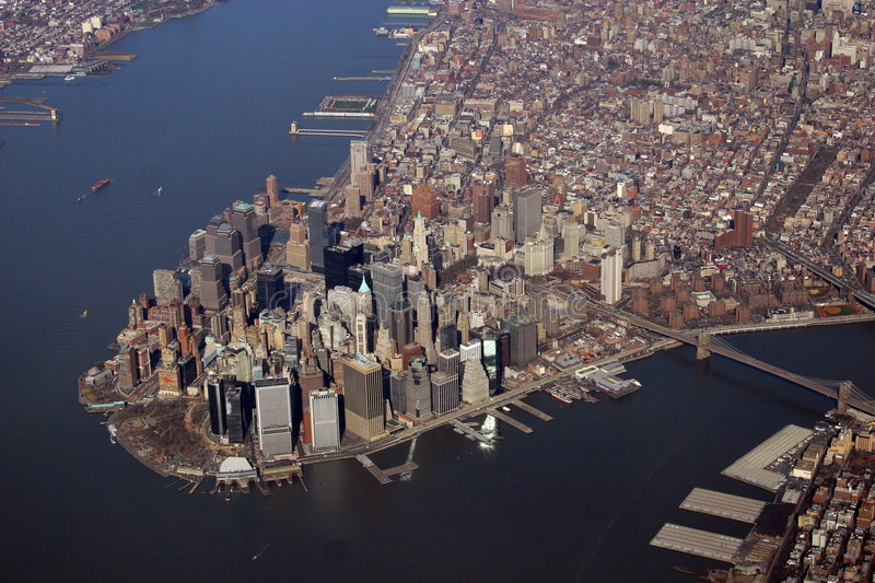 Downtown Manhattan. Financial District, New York royalty free stock images