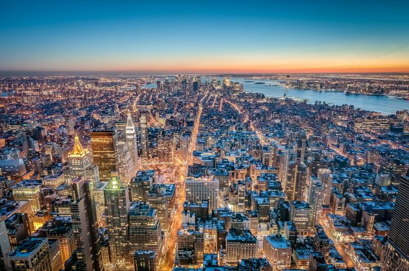 Downtown Manhattan in New York, United States royalty free stock image