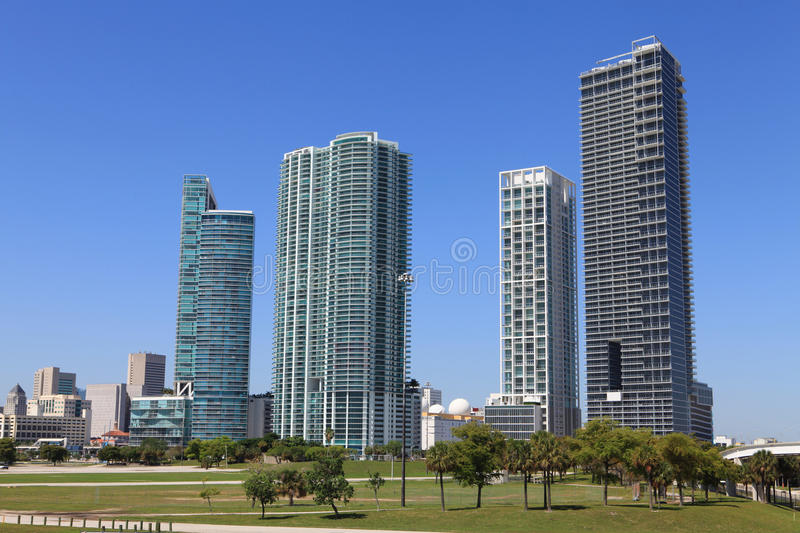 Download Downtown Miami stock photo. Image of biscayne, florida - 14854116