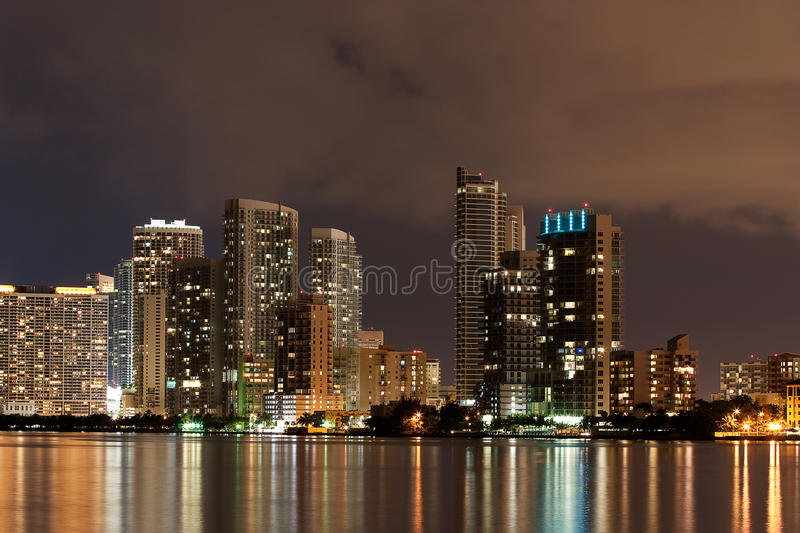 Download Downtown Miami At Night Royalty Free Stock Image - Image: 11058946