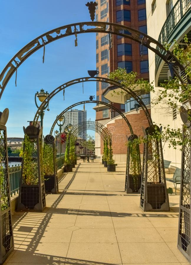 Free Downtown Milwaukee River Walk Royalty Free Stock Photography - 153339537