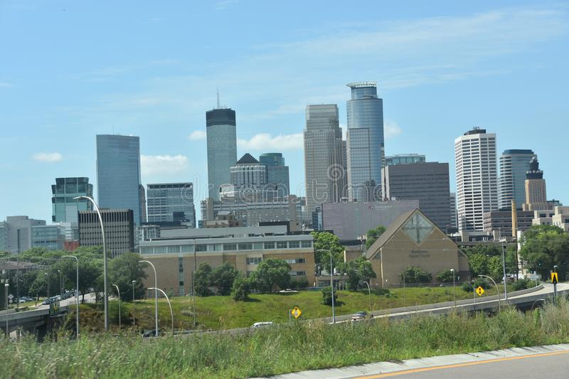 Downtown Minneapolis in Minnesota stock photography