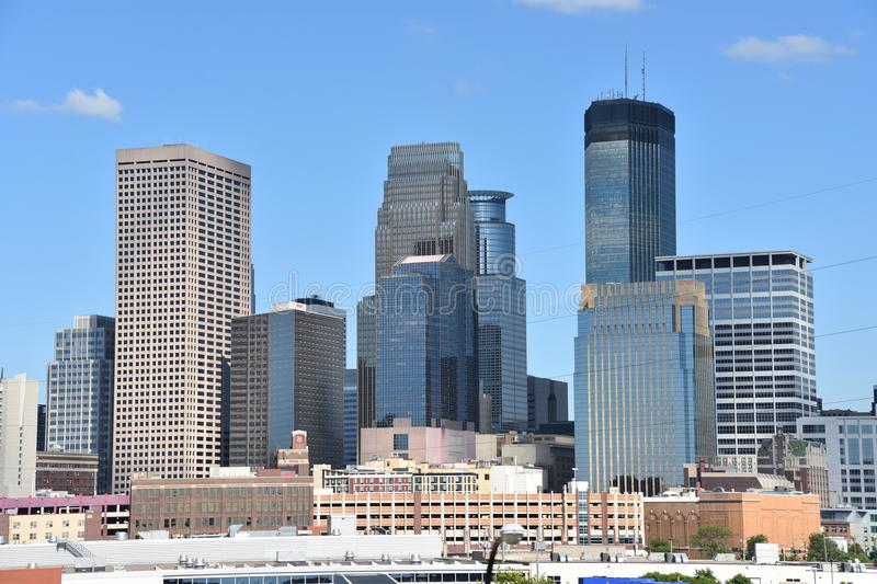Downtown Minneapolis in Minnesota stock photo