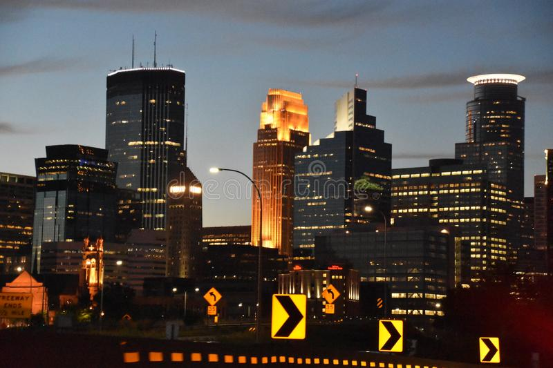 Downtown Minneapolis in Minnesota royalty free stock image