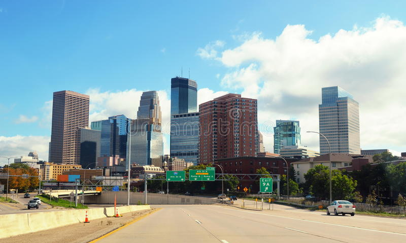 Downtown of Minneapolis.Minnesota stock image