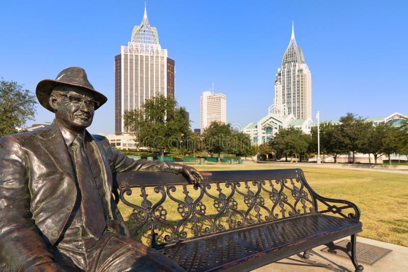 Downtown Mobile Alabama royalty free stock image