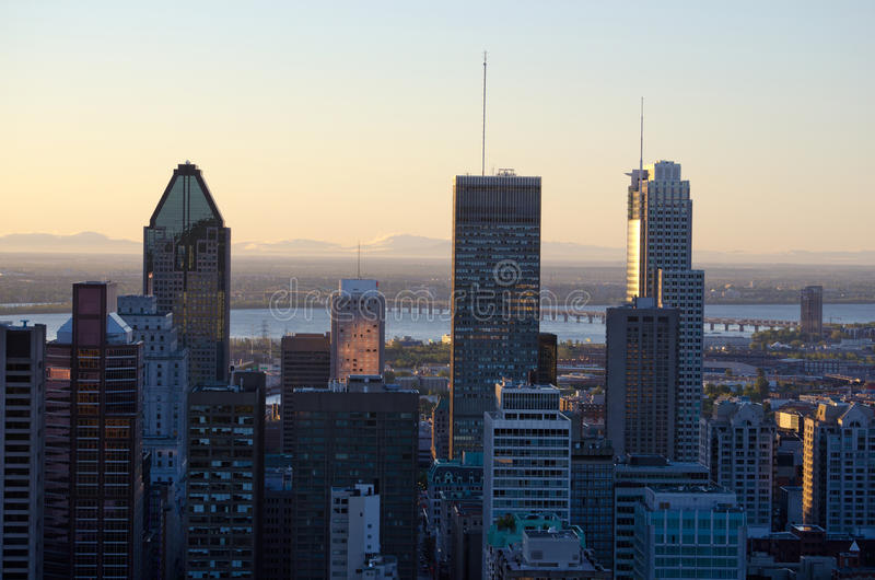 Download Downtown Montreal stock image. Image of golden, street - 26641909