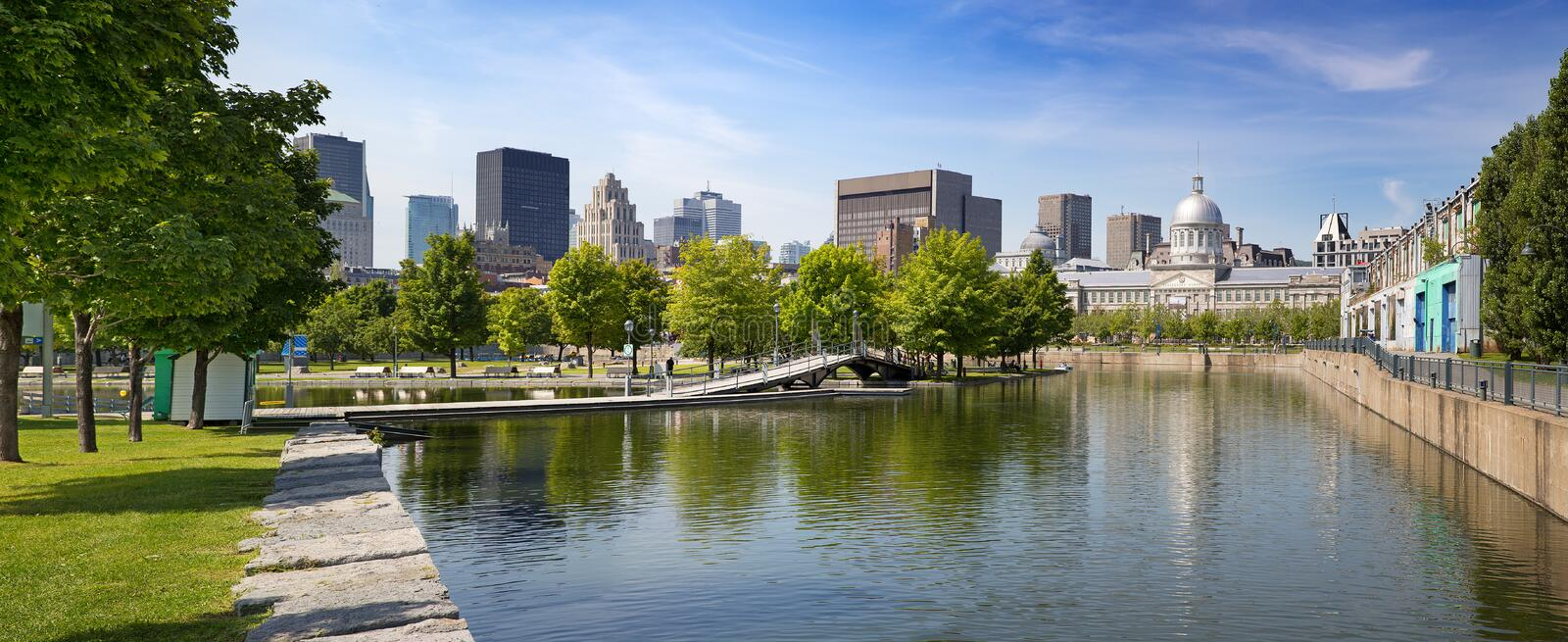 Downtown Montreal in summer royalty free stock photography
