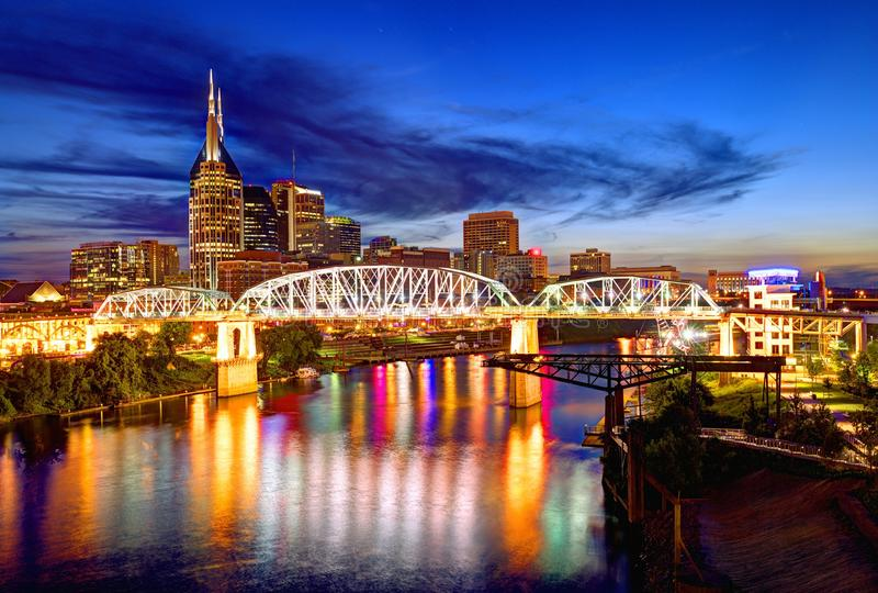Downtown Nashville stock photography